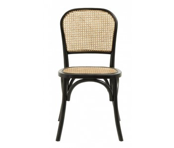 Nordal Silla Wicky mimbre - negro