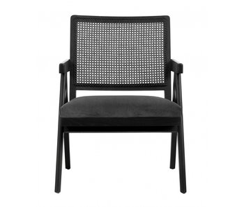 Nordal Chaise en osier - noir / gris