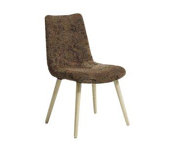 Nordal Matsalstol i blomma - ljusbrun