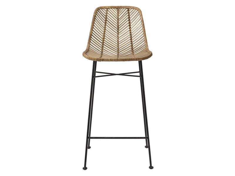 Bloomingville rattan sedia da bar naturale living and co.