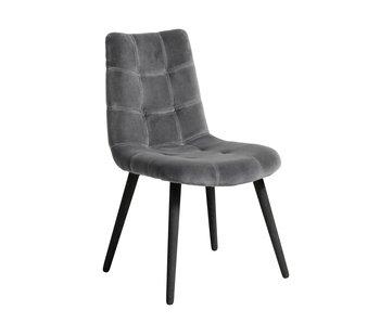 Nordal Spisestol stol fløjl - grå