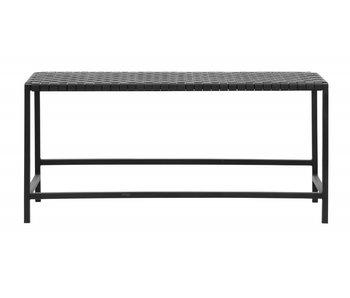Nordal Sofa mit schwarzem Leder