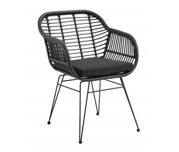 Nordal Garden armchair incl. Cushion - black