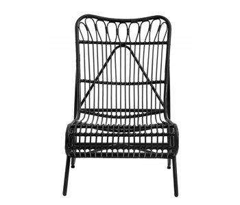 Nordal Gartenliegestuhl - schwarz