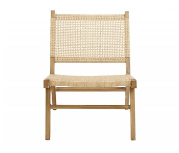 Nordal Vasai lounge chair - natural