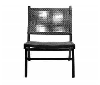 Nordal Vasai loungestoel - zwart