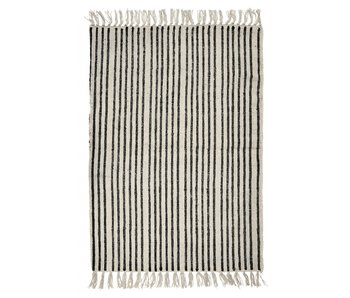 Nordal Stripes rug - off-white / black 200x250cm