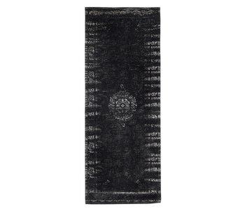 Nordal Stora vävd matta - mörkgrå / svart