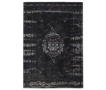 Nordal Grand woven rug - dark gray / black 200x290
