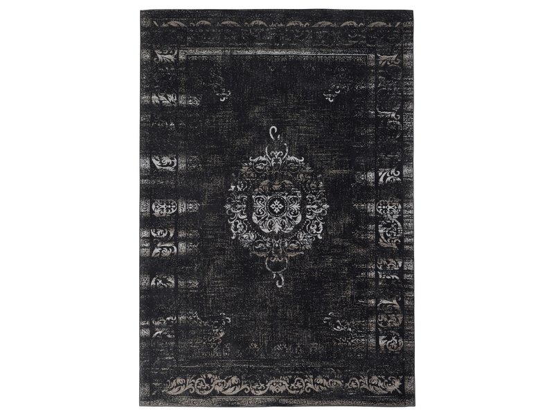 Nordal Grand geweven vloerkleed - donkergrijs/zwart 200x290