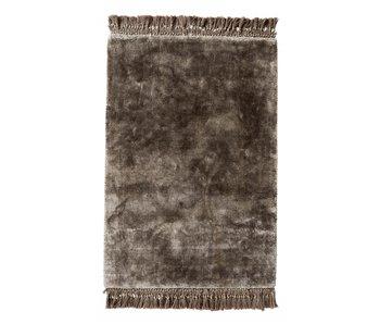 Nordal Edel matta med fransar - varmgrå