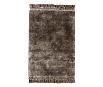 Nordal Noble rug with fringes - warm gray