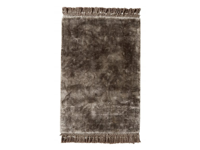 Nordal Noble vloerkleed met franjes - warm grijs