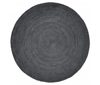Nordal Alfombra redonda de yute - negro