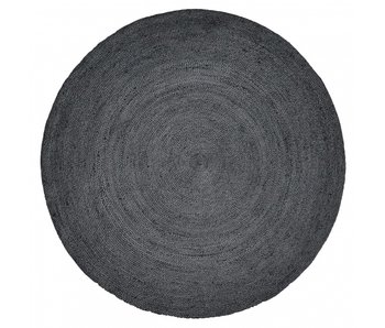 Nordal Jute rundt teppe - svart