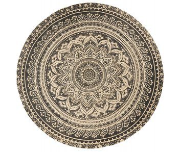 Nordal Matte round rug with print