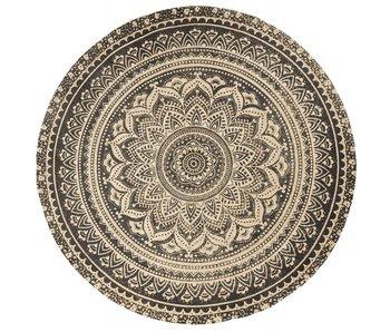 Nordal Tapis rond mat avec imprimé