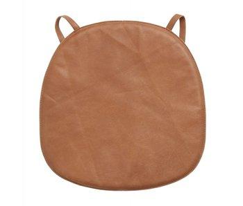 Nordal Coussin de siège en cuir pour chaise - marron