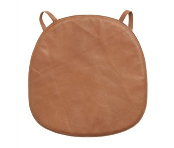 Nordal Skin leather seat cushion for chair - brown