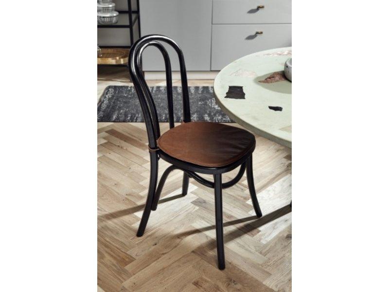 Nordal Hudlæder sædehynde til stol - brun