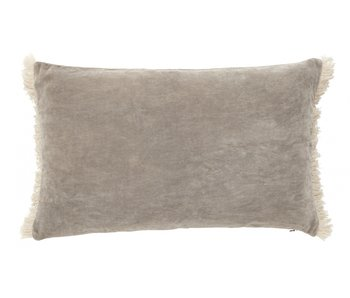 Nordal Cushion with fringes incl filling - beige