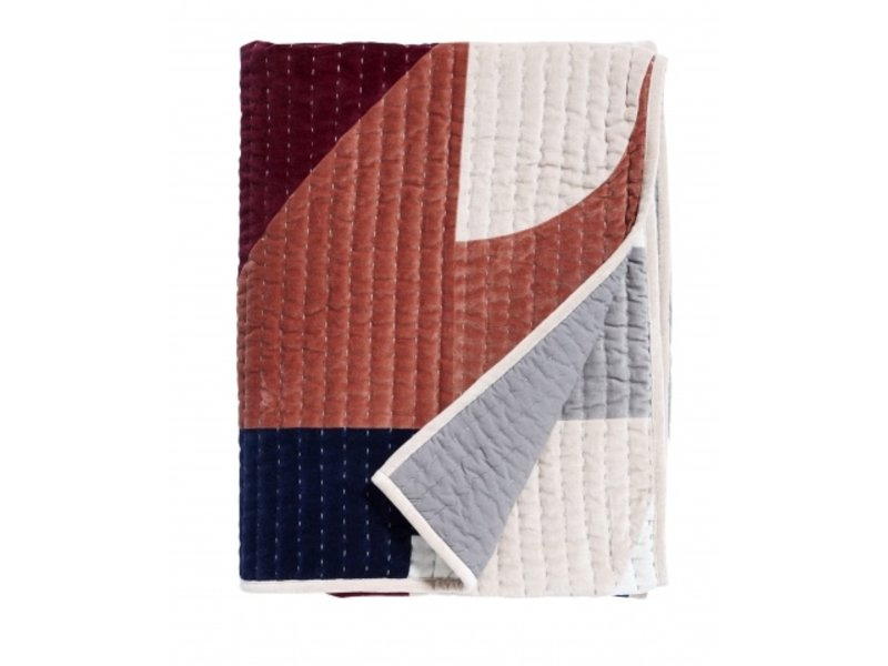 Nordal Patchwork quilt - lyserød blanding