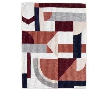 Nordal Patchwork quilt - pink mix