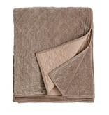 Nordal Fløjls sengetæppe - beige