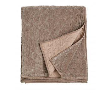 Nordal Sammet sängäcke - beige