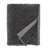 Nordal Velvet sengetæppe - grå