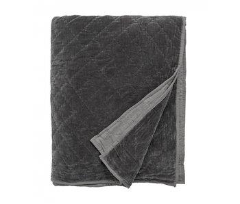 Nordal Copriletto in velluto - grigio