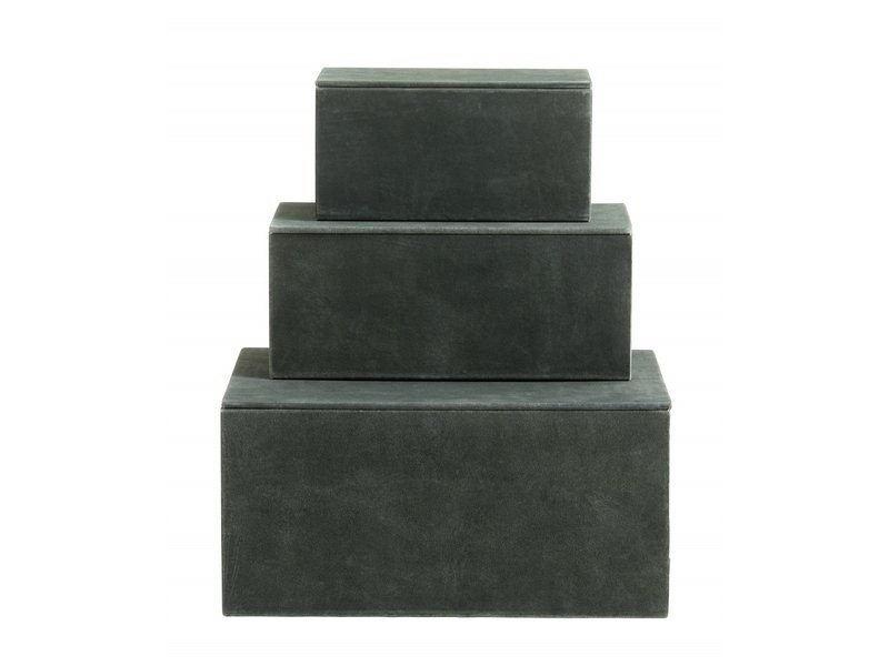 Nordal Box opbergdozen set van 3 stuks - groen