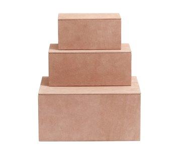 Nordal Oppbevaringsbokser med 3 stk - rosa