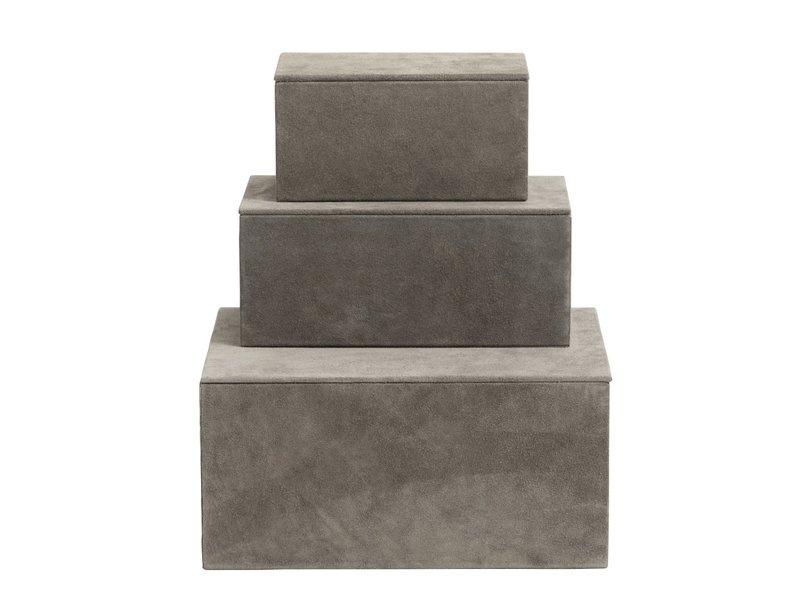 Nordal Box opbergdozen set van 3 stuks - grijs