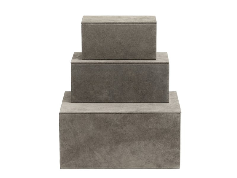 Nordal Scatole per scatole da 3 pezzi - grigio