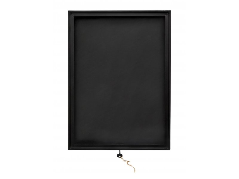 Nordal Black display box - metal / glass