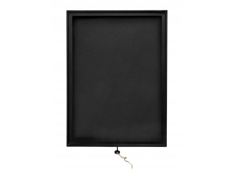 Nordal Scatola da esposizione nera - metallo / vetro