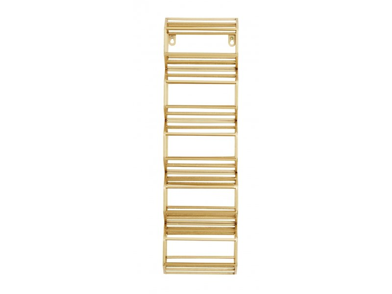 Nordal Wine rack iron - gold