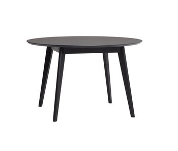 Hubsch Round dining room table wood - black
