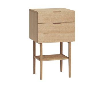 Hubsch Armoire en bois avec tiroirs - naturel