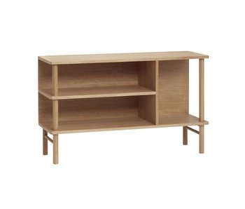 Hubsch Wooden sideboard with shelves - natural