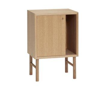 Hubsch Wooden cupboard with door - natural