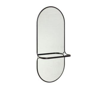Hubsch Spegel metall - svart