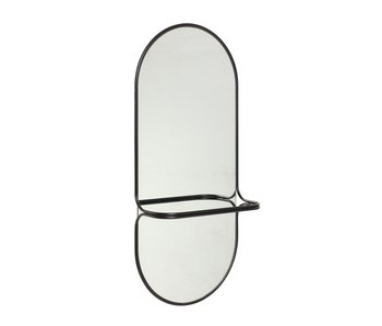 Hubsch Spiegel metaal - zwart