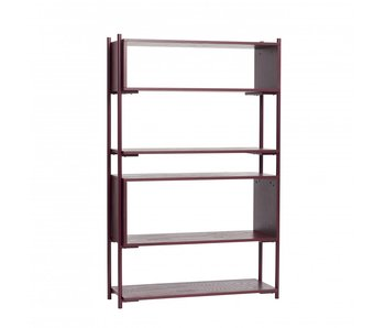 Hubsch Metal / wood rack - red