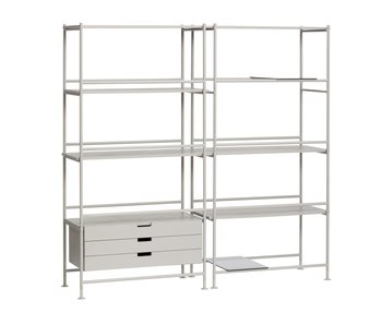 Hubsch Metal / wood rack - gray