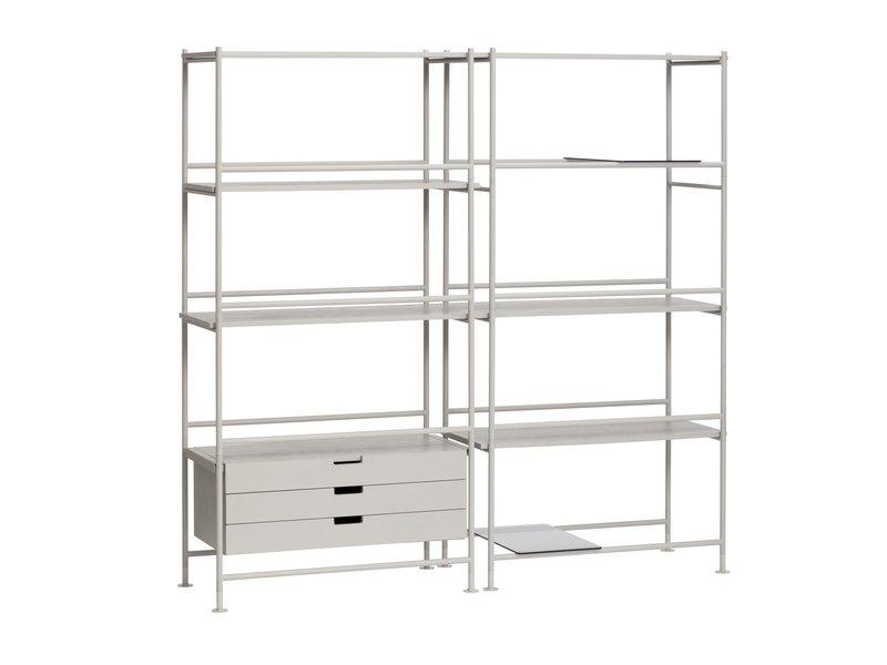 Hubsch Metal / wood rack - gray
