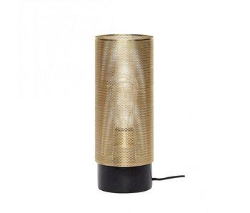 Hubsch Lampada da tavolo - ottone / nero