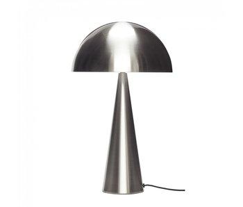 Hubsch Lampe de table métal - nickel ø30xh51cm