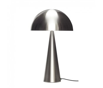 Hubsch Table lamp metal - nickel ø30xh51cm
